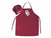 Oklahoma Sooners Apron and Chef Hat Set Special Order