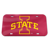 Iowa State Cyclones License Plate - Crystal Mirror