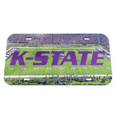 Kansas State Wildcats License Plate - Crystal Mirror - Football