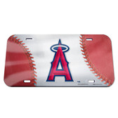 Los Angeles Angels License Plate - Crystal Mirror - Logo