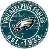 "Philadelphia Eagles  Wood Sign - 24"" Round"