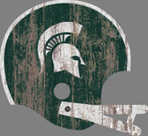 Michigan State Spartans Sign - Large Wood Helmet