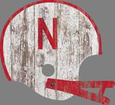 Nebraska Cornhuskers Sign - Large Wood Helmet