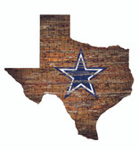 Dallas Cowboys Wood Sign - State Wall Art