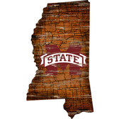 Mississippi State Bulldogs Wood Sign - State Wall Art