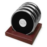 Arkansas Razorbacks Silver Tone Coaster Set of 4