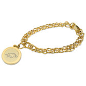 Arkansas Razorbacks Gold Charm Bracelet