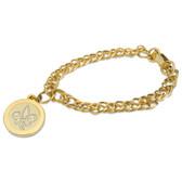 Louisiana Lafayette Ragin Cajuns Gold Charm Bracelet
