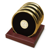 North Carolina Tar Heels Gold Tone Coaster Set of 4