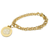 North Carolina Tar Heels Gold Charm Bracelet