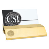 Old Dominion University Gold Business Card Holder