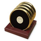Utah Utes Gold Tone Coaster Set of 4