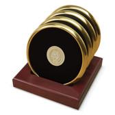 Notre Dame Fighting Irish Gold Tone Coaster Set of 4