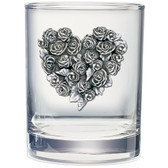 Roses Double Old Fashioned Glass Set of 2