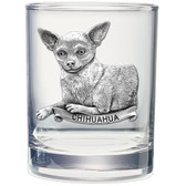 Chihuahua Double Old Fashioned Glass Set of 2