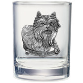Yorkie Double Old Fashioned Glass Set of 2