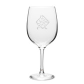 Baseball Player Swing 19 oz. Deep Etched Wine Glass