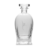 Gymnast  23.75 Deep Etched Rossini Decanter