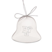 Bowling Green State Falcons Deep Etched Bell Shaped Crystal Ornament