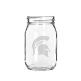 Michigan State Spartans Deep Etched 16 oz. Jar