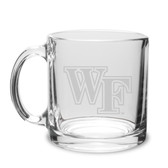 Wake Forest Demon Deacons Deep Etched 13 oz. Clear Coffee Mug