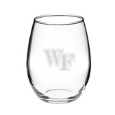 Wake Forest Demon Deacons Deep Etched 21 oz. Stemless Wine Glass