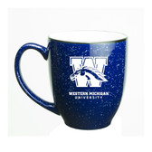 Western Michigan Broncos Deep Etched 15 oz. Cobalt Bistro Mug
