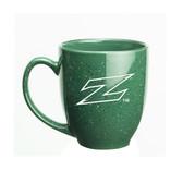 Akron Zips Deep Etched 15 oz. Green Bistro Mug