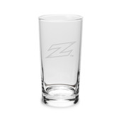 Akron Zips Deep Etched 10 oz. Highball Glass