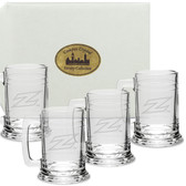 Akron Zips Deep Etched 15 oz. Tankard Set of 4