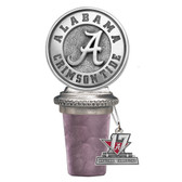 Alabama Crimson Tide 2017 National Champions Bottle Stopper with Tag