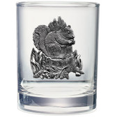 Squirrel Double Old Fashioned Glass Set of 2