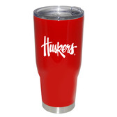 Nebraska Cornhuskers 32oz Decal Powder Coated Stainless Steel Tumbler