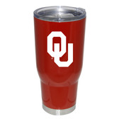 Oklahoma Sooners 32oz Decal Powder Coated Stainless Steel Tumbler