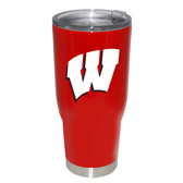 Wisconsin Badgers 32oz Decal Powder Coated Stainless Steel Tumbler