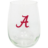 Alabama Crimson Tide 15oz Decorated Stemless Wine Glass
