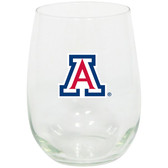 Arizona Wildcats 15oz Decorated Stemless Wine Glass