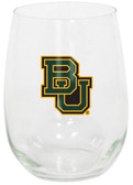 Baylor Bears 15oz Decorated Stemless Wine Glass