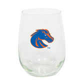 Boise State Broncos 15oz Decorated Stemless Wine Glass