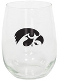 Iowa Hawkeyes 15oz Decorated Stemless Wine Glass