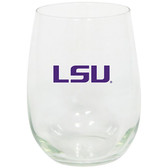 LSU Tigers 15oz Decorated Stemless Wine Glass