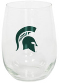 Michigan State Spartans 15oz Decorated Stemless Wine Glass