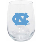 North Carolina Tar Heels 15oz Decorated Stemless Wine Glass