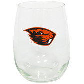Oregon State Beavers 15oz Decorated Stemless Wine Glass