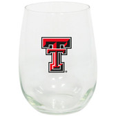 Texas Tech Red Raiders 15oz Decorated Stemless Wine Glass