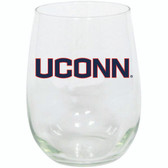 Connecticut Huskies 15oz Decorated Stemless Wine Glass