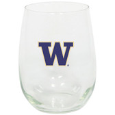Washington Huskies 15oz Decorated Stemless Wine Glass
