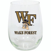 Wake Forest Demon Deacons 15oz Decorated Stemless Wine Glass