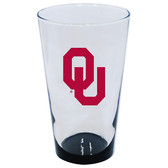 Oklahoma Sooners 16oz Highlight Pint Glass