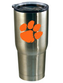 Clemson Tigers 22oz Decal Stainless Steel Tumbler